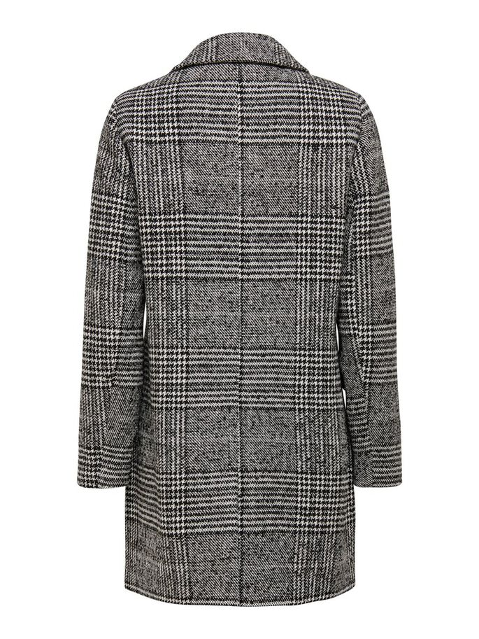 CHECKED WOOL COAT, Cloud Dancer, large