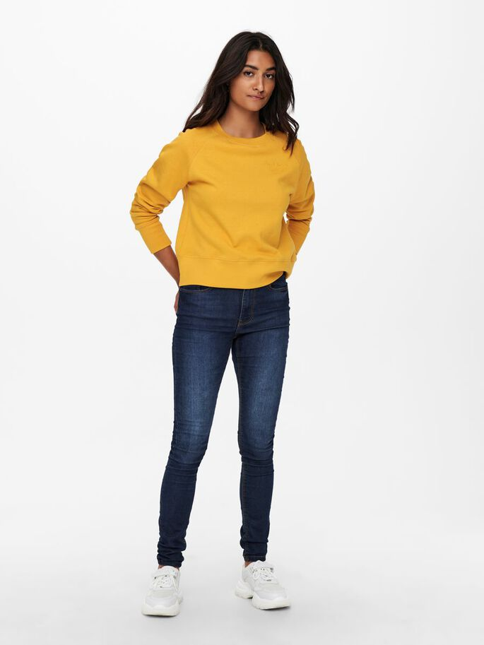 SOLID COLORED SWEATSHIRT, Mineral Yellow, large