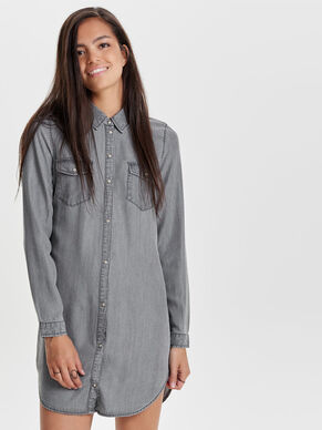 LONG LOOSE DENIM SHIRT