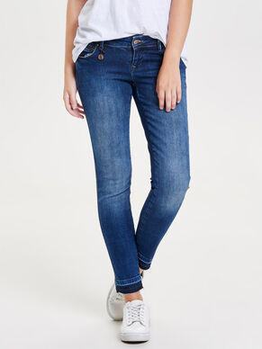 CORAL SUPERLOW ANKLE SKINNY JEANS