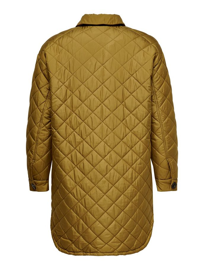 CURVY QUILTED JACKET, Breen, large