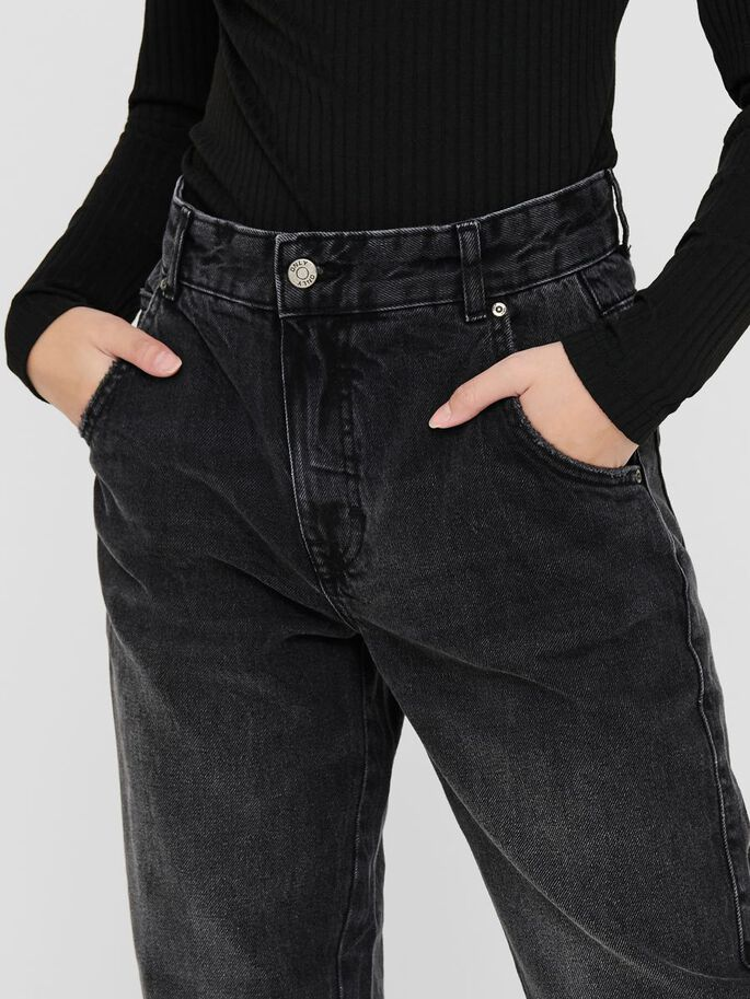 ONLTROY LIFE CARROT HIGH WAIST JEANS, Dark Grey Denim, large