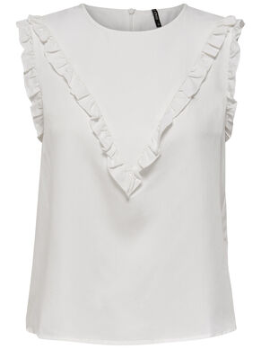 FRILL SLEEVELESS TOP