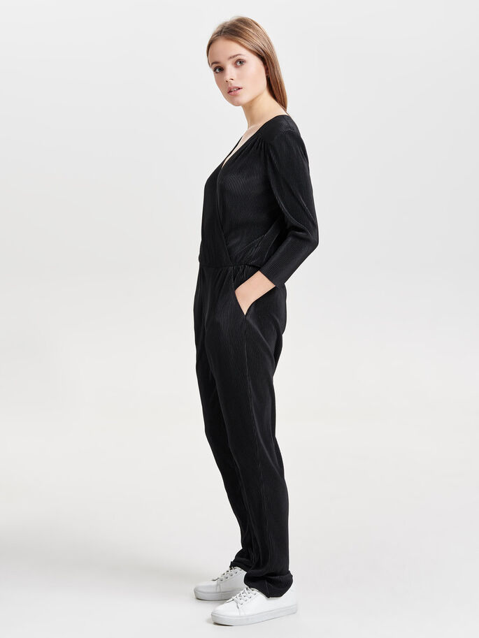 3/4-ÄRMAD JUMPSUIT, Black, large