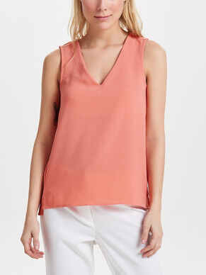 V-NECK MOUWLOZE TOP