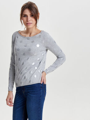PATTERNED KNITTED PULLOVER