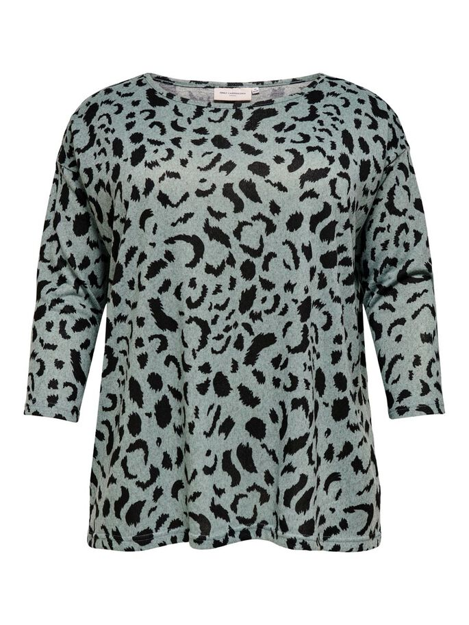 CURVY 3/4 SLEEVED TOP, Chinois Green, large