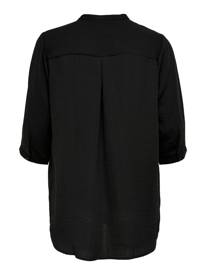 CURVY LOOSE FITTED TUNIC, Black, large