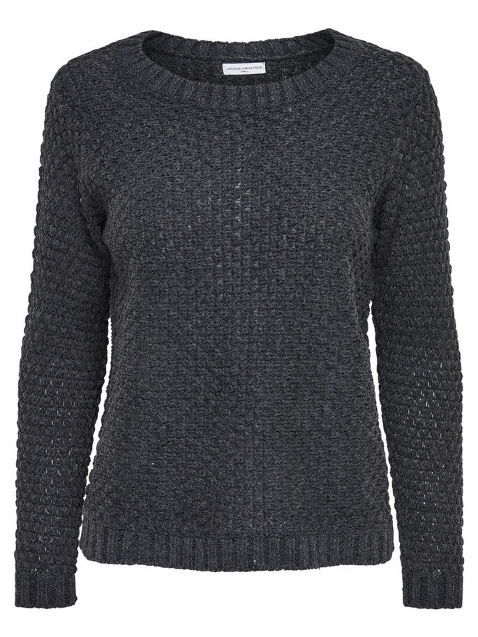 LARGO JERSEY DE PUNTO, Dark Grey Melange, large