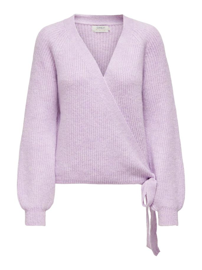 WRAP CARDIGAN, Orchid Bloom, large