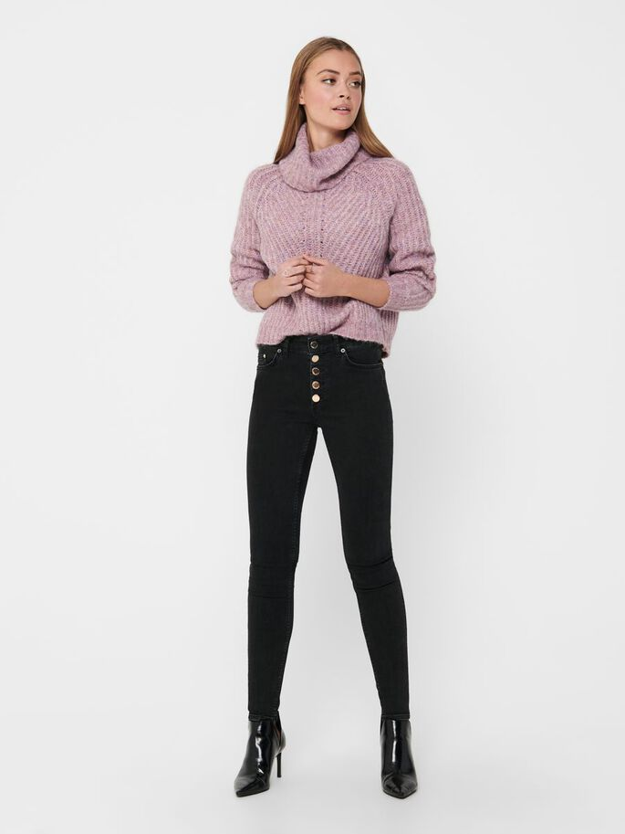 ROLLNECK KNITTED PULLOVER, Elderberry, large