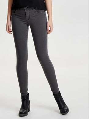 JDY LOW ULLE GREY SLIM FIT JEANS