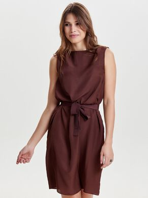SOLID SLEEVELESS DRESS