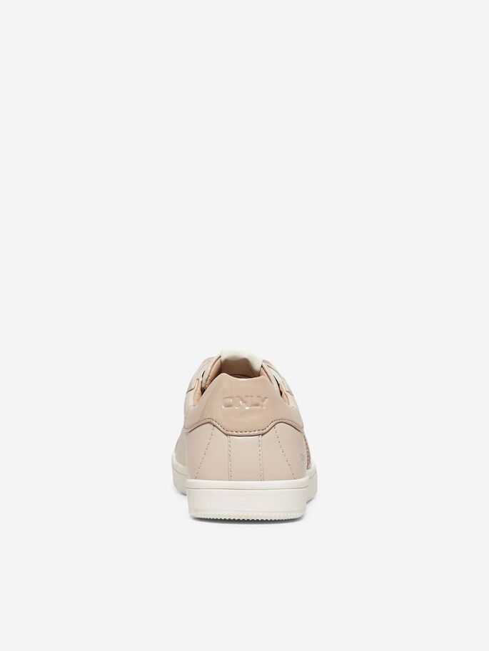 STRIPED SNEAKERS, Nude, large