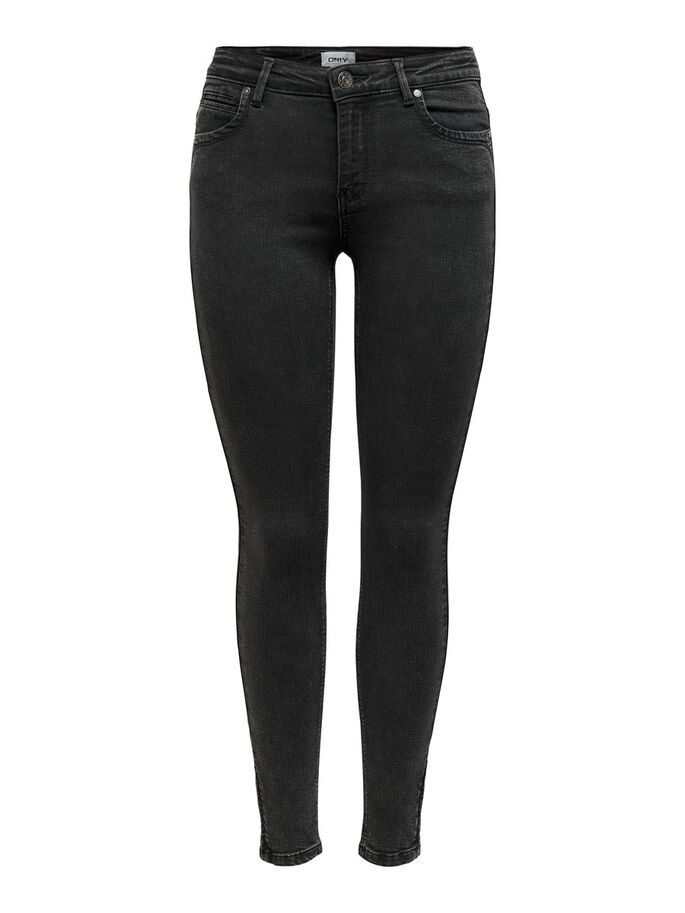 ONLKENDELL LIFE ANKLE SKINNY FIT JEANS, Black Denim, large