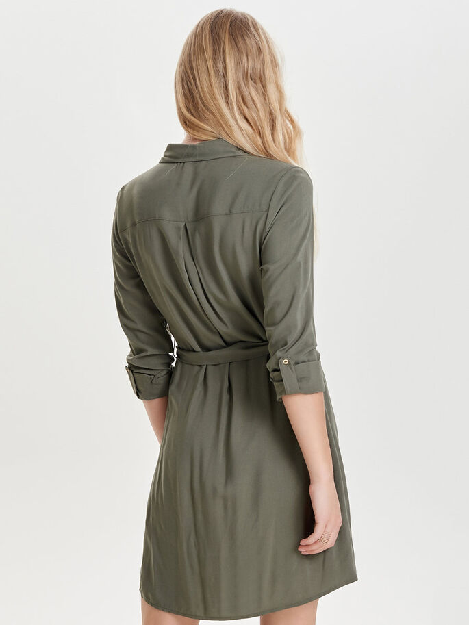 BLOUSE JURK, Dusty Olive, large