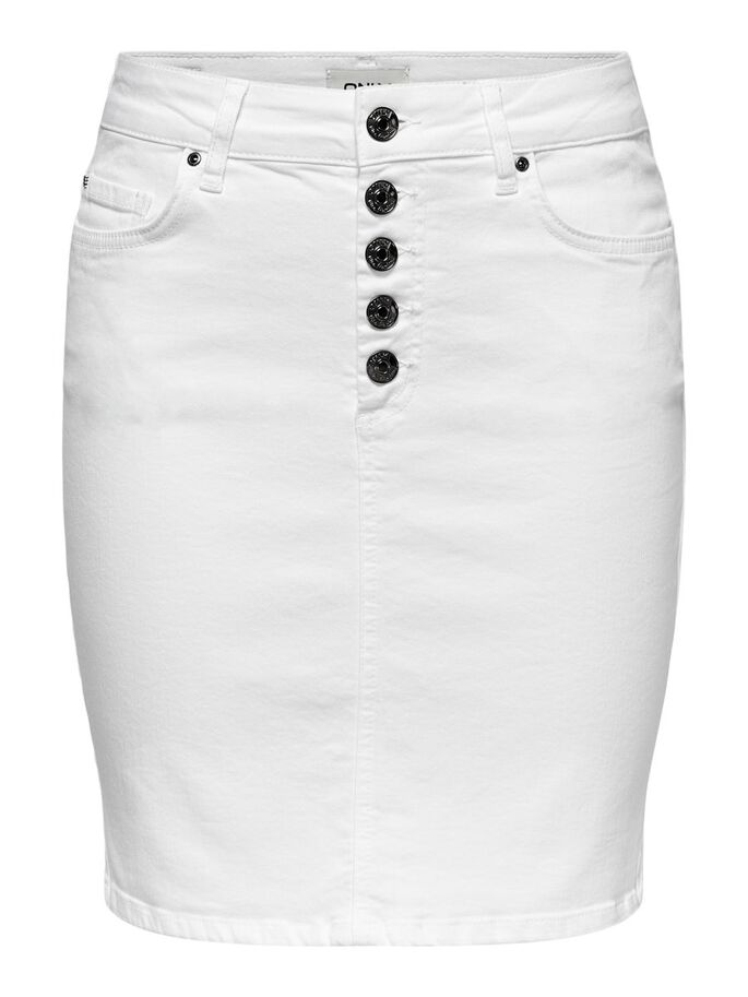 TAILLE HAUTE JUPE, White, large
