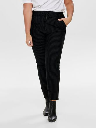 CURVY PINSTRIPED TROUSERS