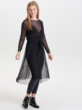 MESH LONG SLEEVED DRESS