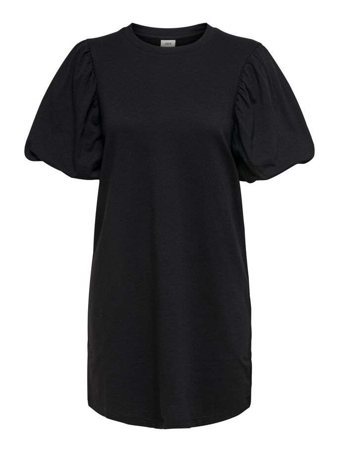 MANCHES BOUFFANTES ROBE, Black, large