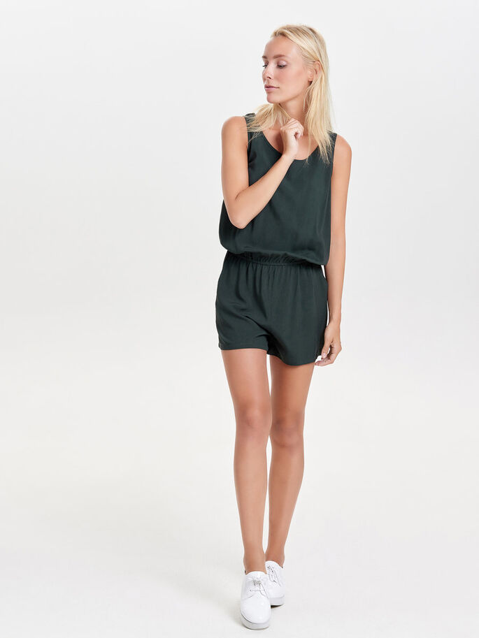 EINFARBIGER PLAYSUIT, Scarab, large
