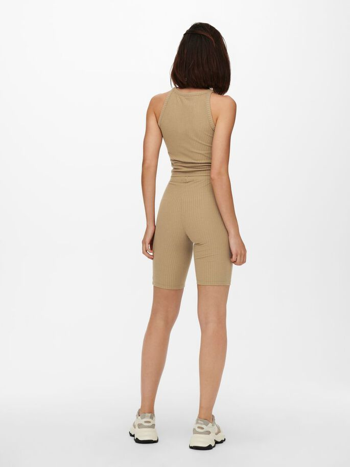 TOP AND SHORTS, Toasted Coconut, large