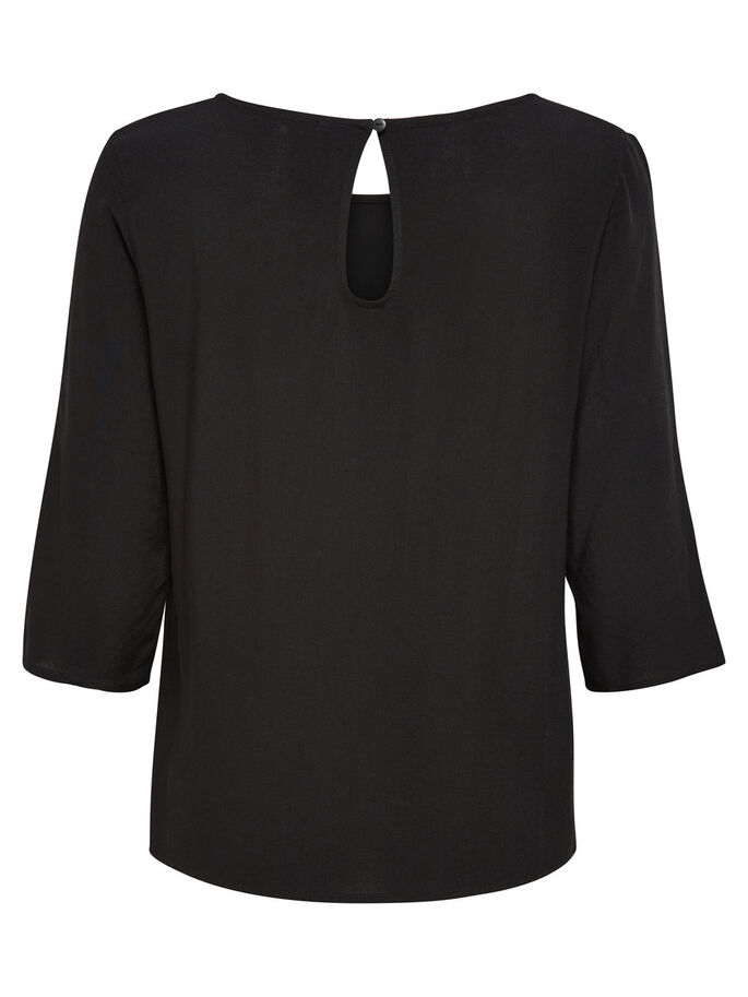 AMPLE TOP MANCHES 3/4, Black, large