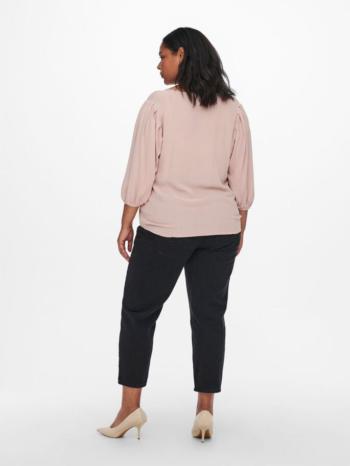 CURVY LOOSE FITTED TOP, Adobe Rose, large