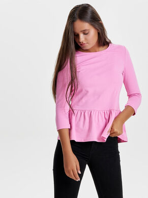 PEPLUM 3/4 SLEEVED TOP