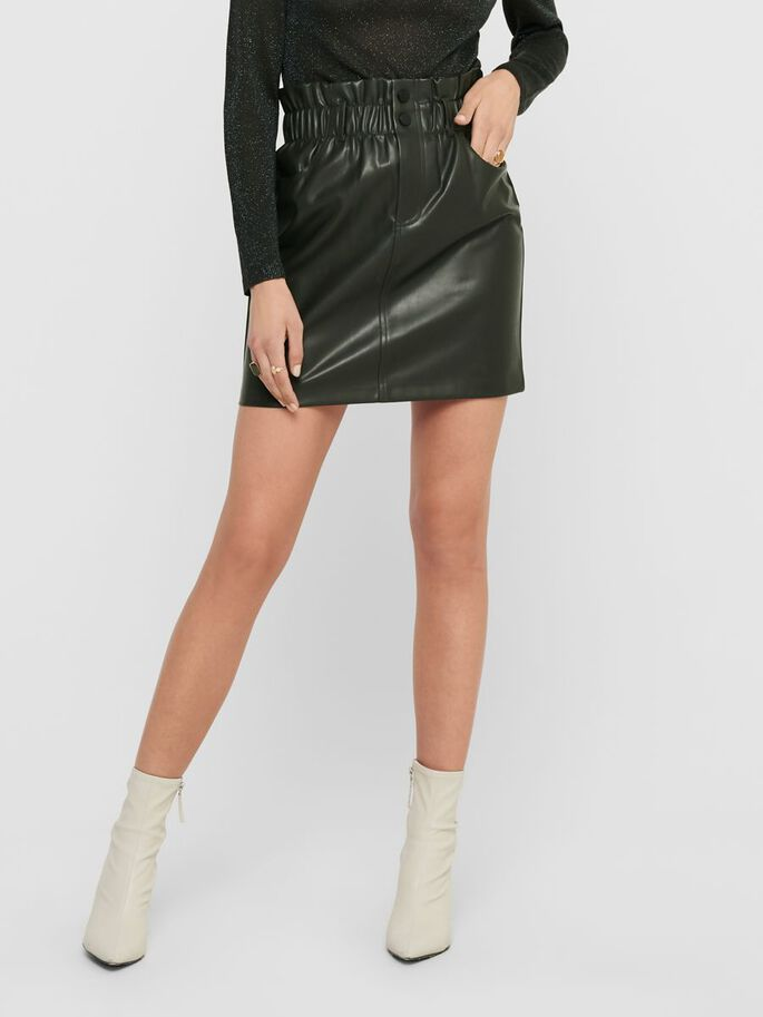 LEATHER LOOK SKIRT, Rosin, large