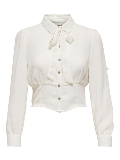 CROPPED DETAILED BLOUSE
