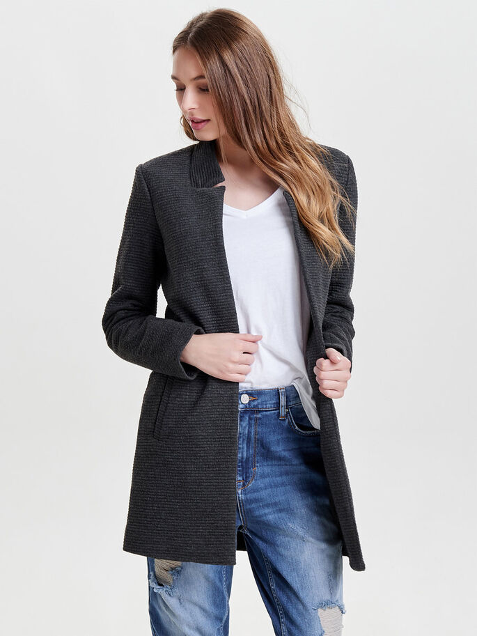 BLAZER VESTE, Black, large