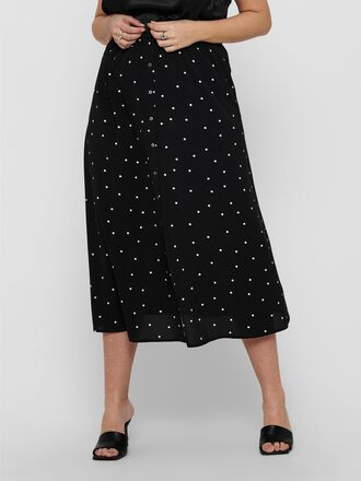 CURVY DOTTED MAXI SKIRT