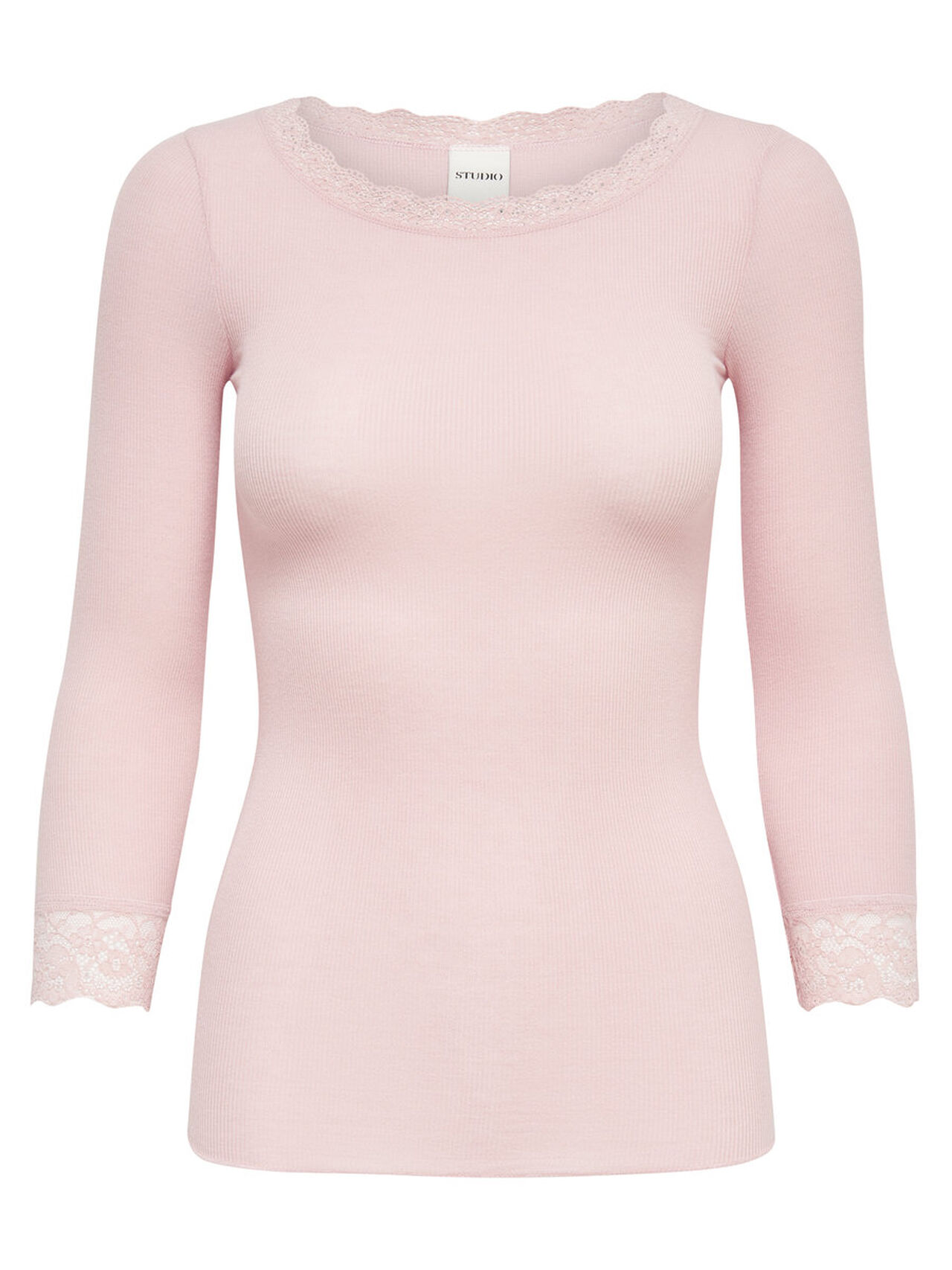 ONLY Lace 3/4 Sleeved Top Women Pastel