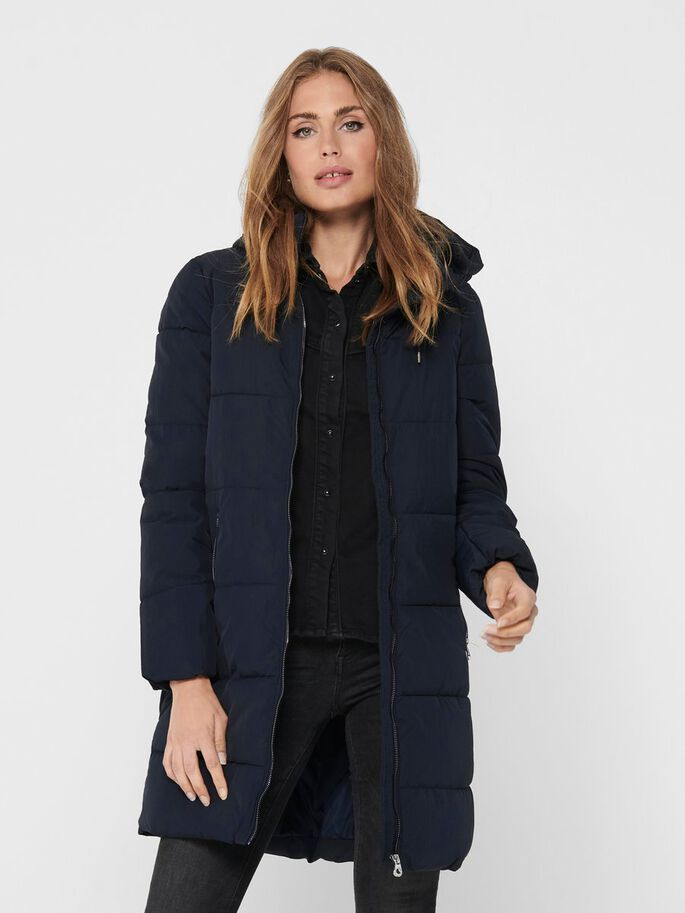 LONG PUFFER JACKET, Night Sky, large