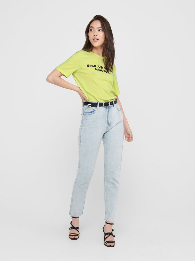 STATEMENT T-SHIRT, Sunny Lime, large