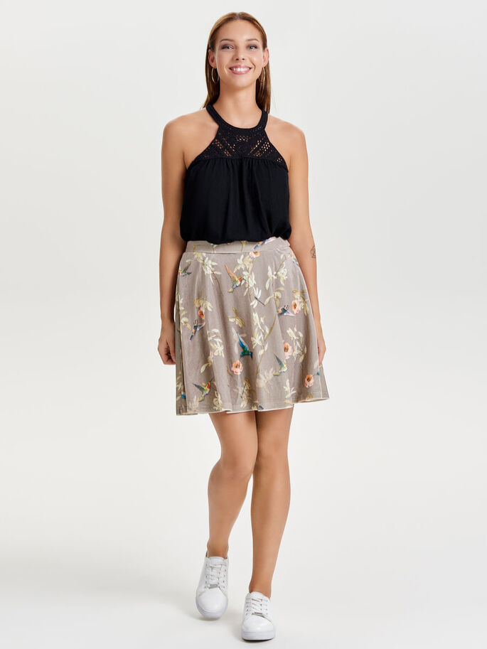 PRINTED SKIRT, Beige, large