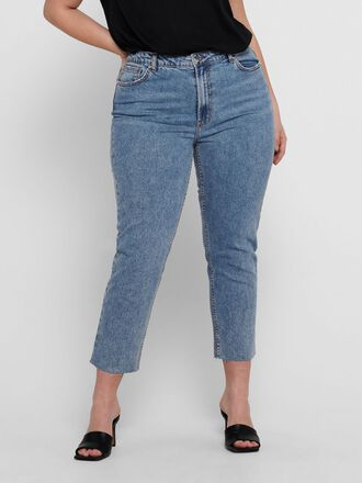 CURVY CARMILY HW CROPPED STRAIGHT FIT JEANS