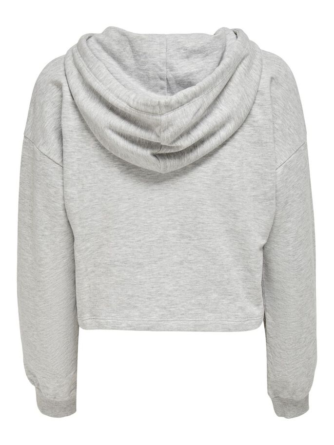 CROPPED SWEATSHIRT, Light Grey Melange, large