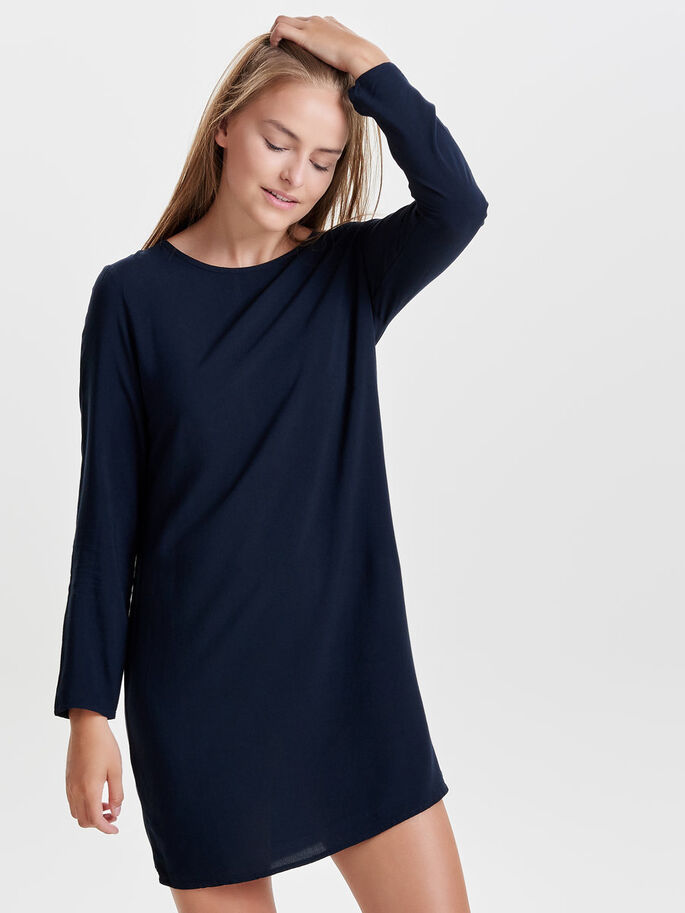LOOSE LONG SLEEVED DRESS, Sky Captain, large