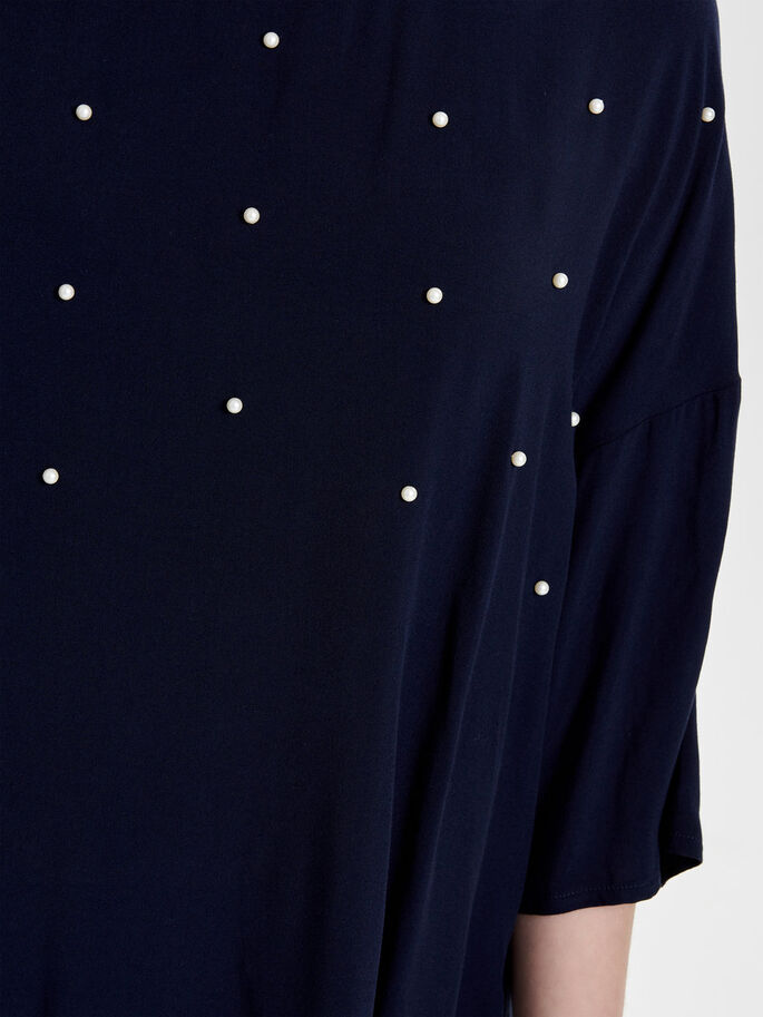 OVERSIZE SHORT SLEEVED TOP, Navy Blazer, large