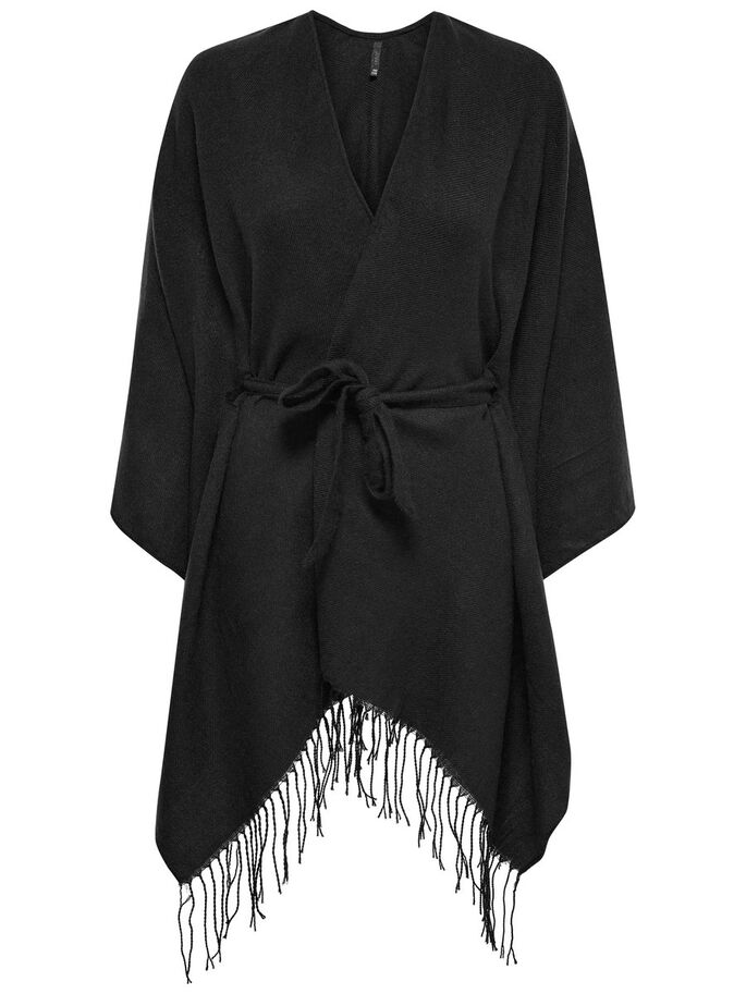 FRYNSE PONCHO, Black, large