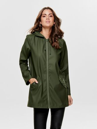 SOLID COLORED RAIN JACKET