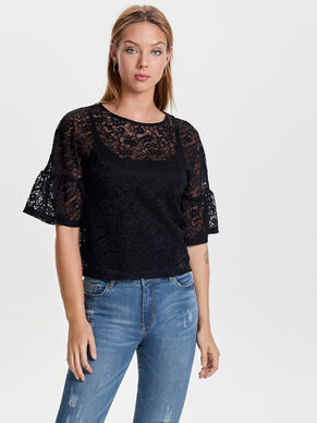 LACE 2/4 SLEEVED BLOUSE
