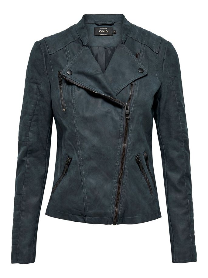 LEDER-LOOK JACKE, Dark Navy, large