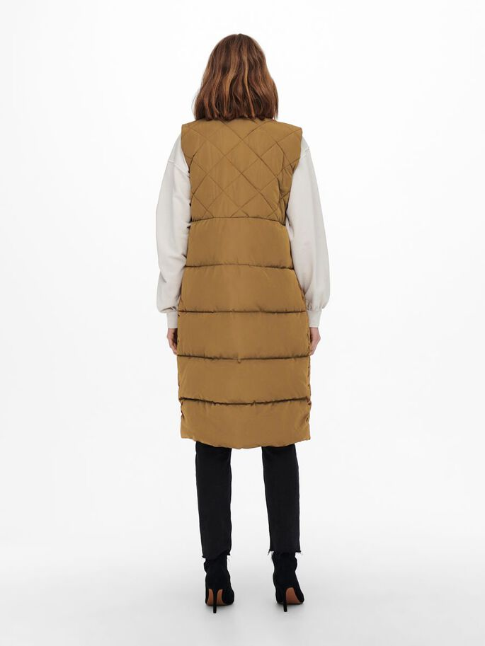 QUILTED WAISTCOAT, Toasted Coconut, large