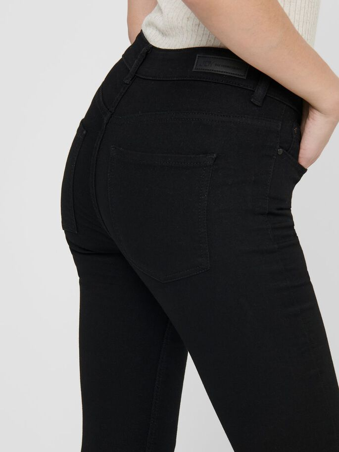 JDYNEW NIKKI LIFE REG SKINNY FIT JEANS, Black Denim, large
