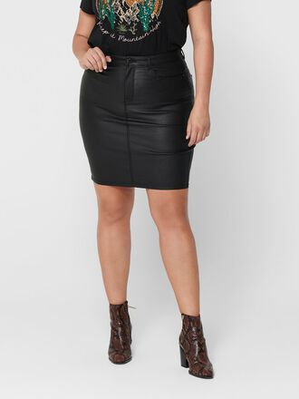 CURVY COATED SKIRT