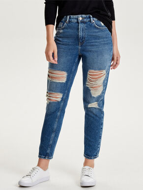 MOM ANKLE STRAIGHT FIT JEANS