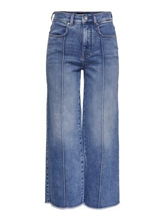 ONQAMY HW WIDE LEGS CROPPED STRAIGHT FIT JEANS